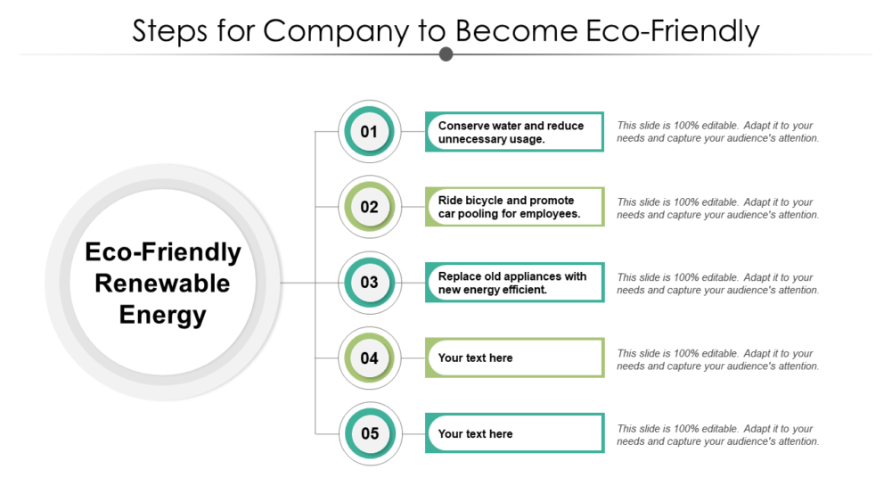 Steps For Company To Become Eco Friendly