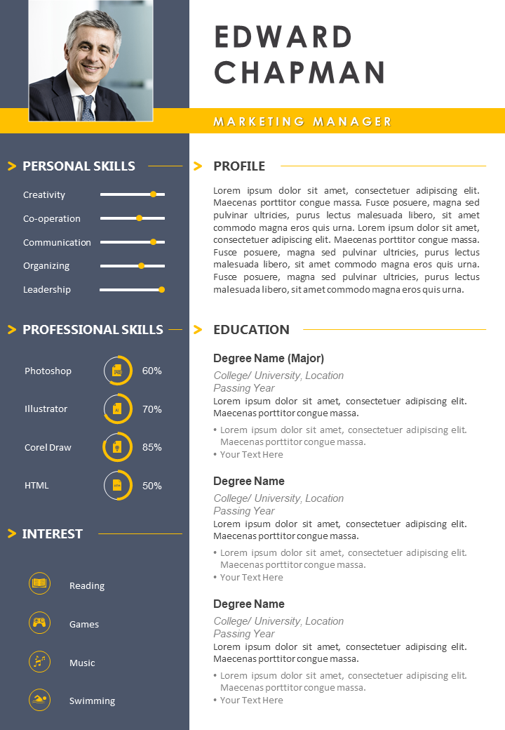 top 25 resume templates for powerpoint to showcase your