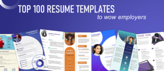100 Most Stunning Resume Templates to Land Your Dream Job
