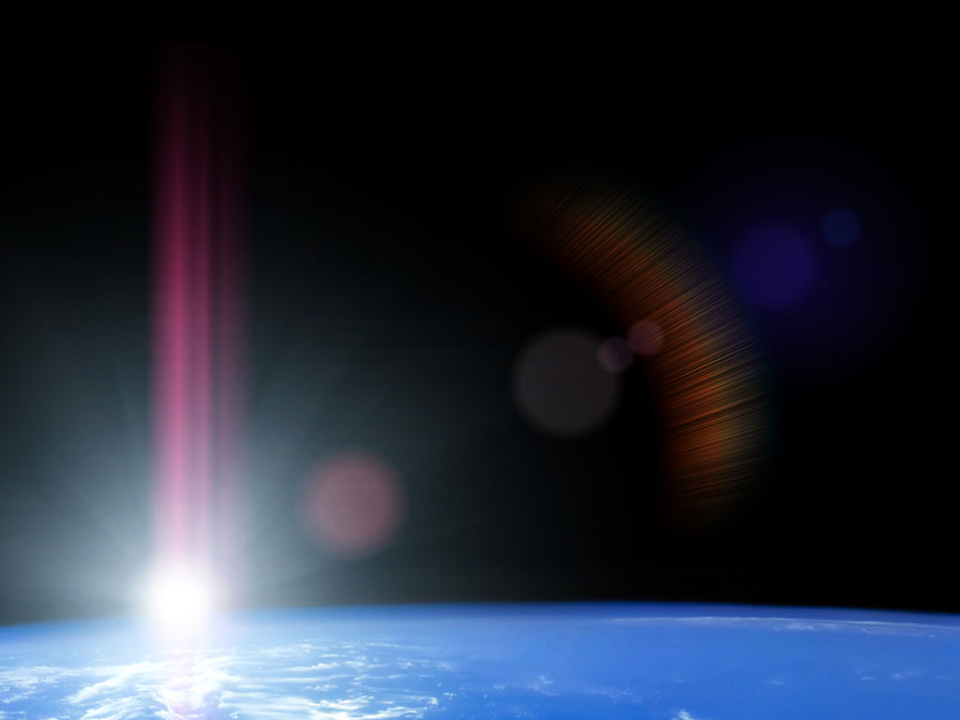 Space Sunrise Science PowerPoint Templates
