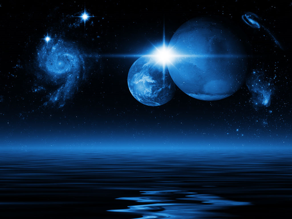 Space Earth PowerPoint Background And Template
