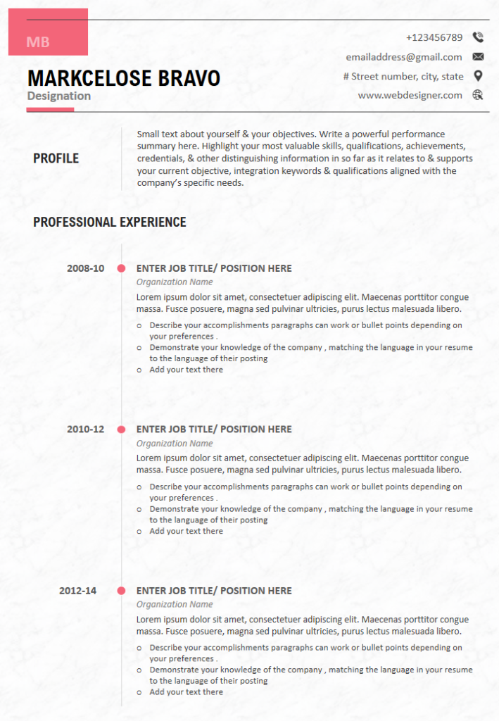 100 Most Stunning Resume Templates To Land Your Dream Job The