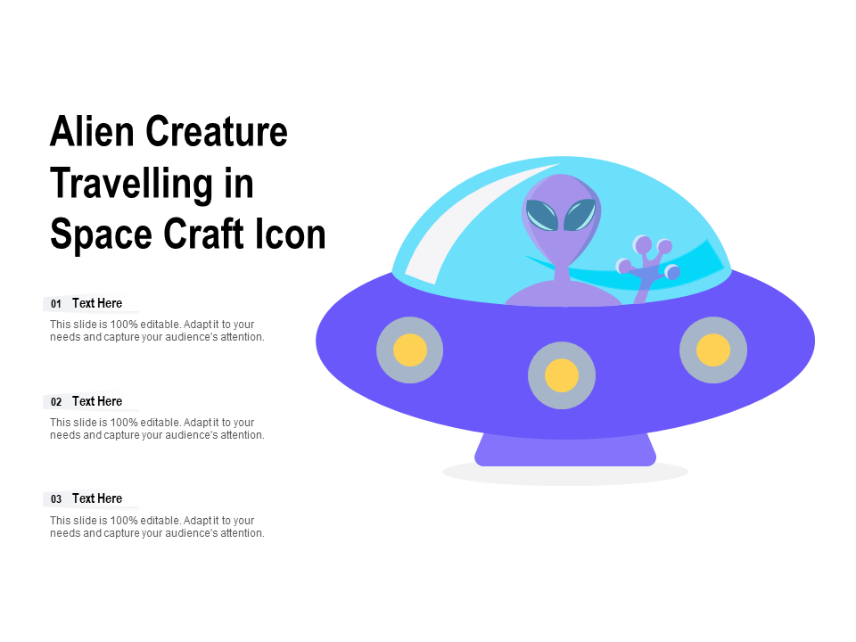 Alien Creature Travelling In Space Craft Icon
