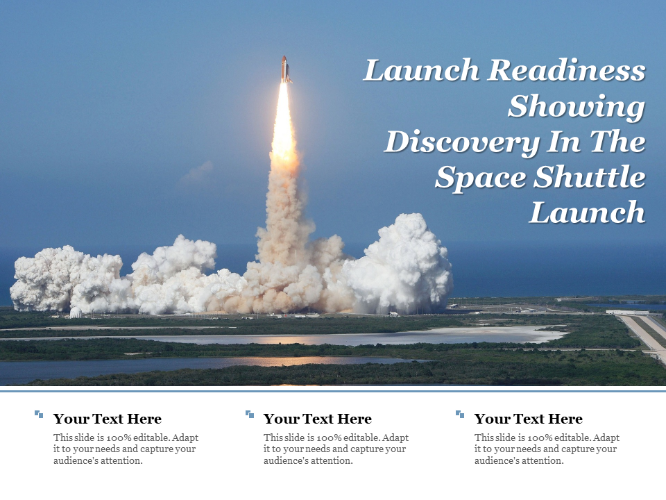 Launch Readiness Showing Discovery In The Space Shuttle Launch