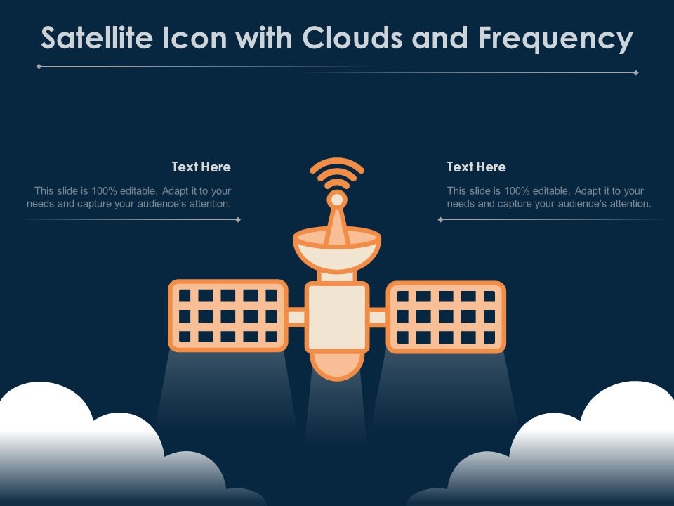 Satellite Icon With Clouds And Frequency