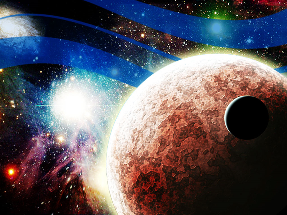 Planets In Space Earth PowerPoint Templates And PowerPoint Backgrounds