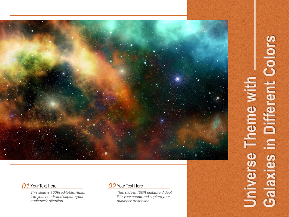 Universe Theme With Galaxies In Different Colors