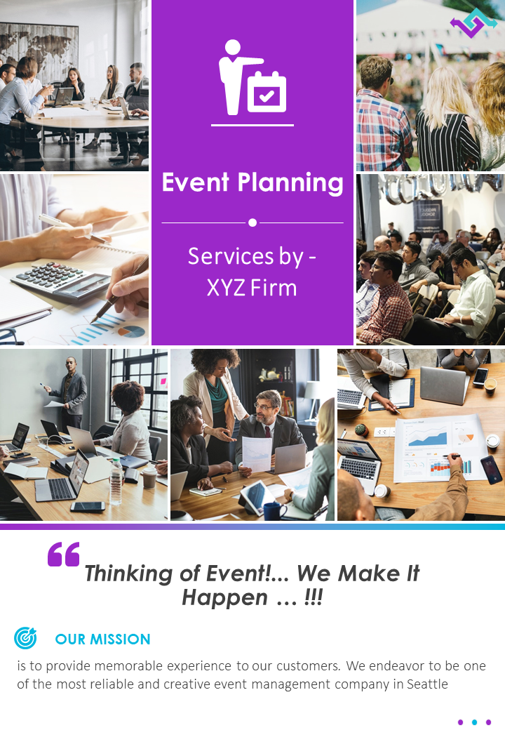Event Planners Promotion Two Page Brochure