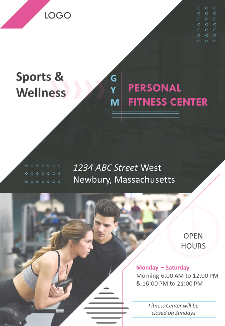 Fitness Gym Four Page Brochure