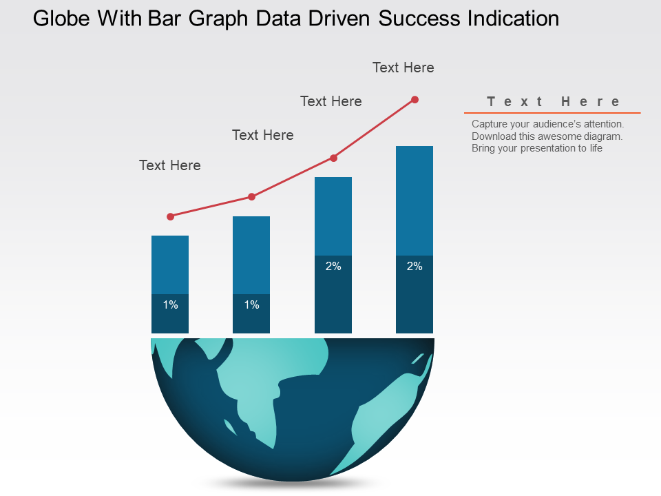 Globe With Bar Graph PowerPoint Slides