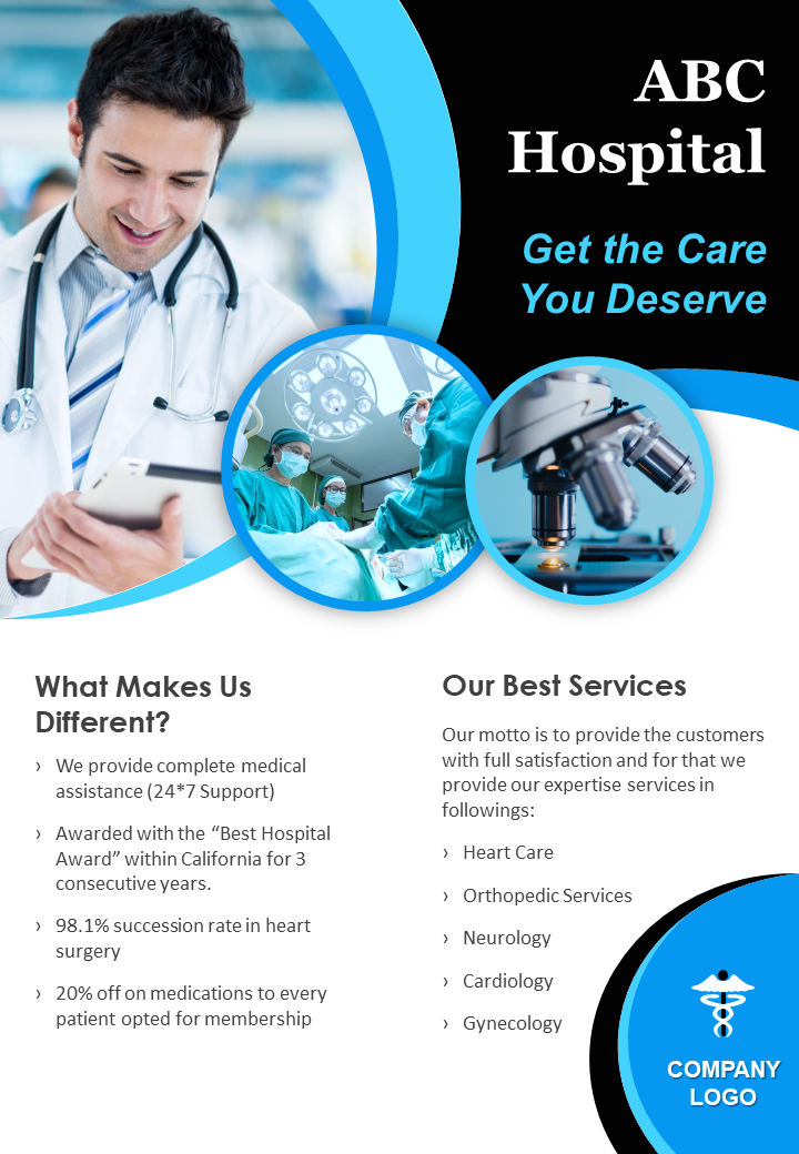 Healthcare Services Marketing Two Page Flyer