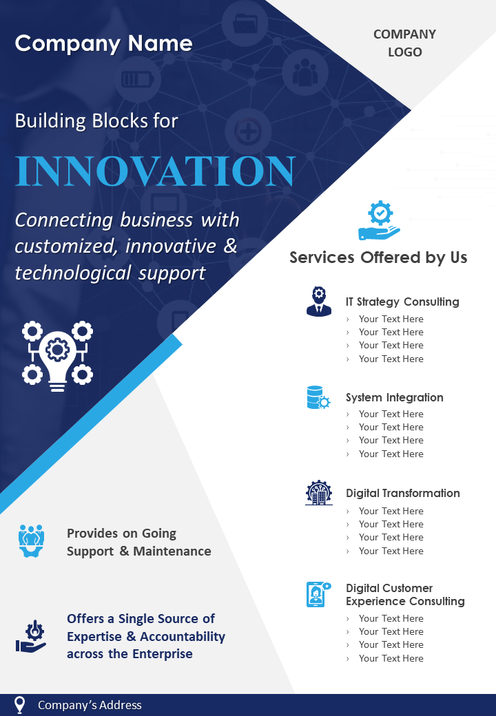 IT Consulting Company Two Page Brochure