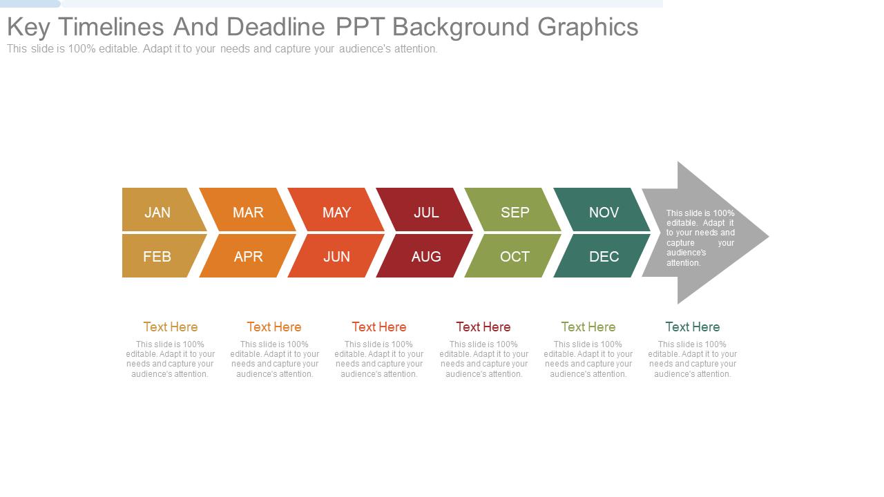 Key Timelines And Deadline PPT Background Graphics