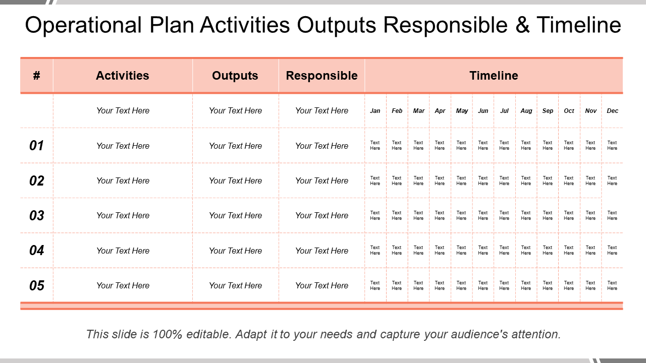 Planning and Timeline Template 10