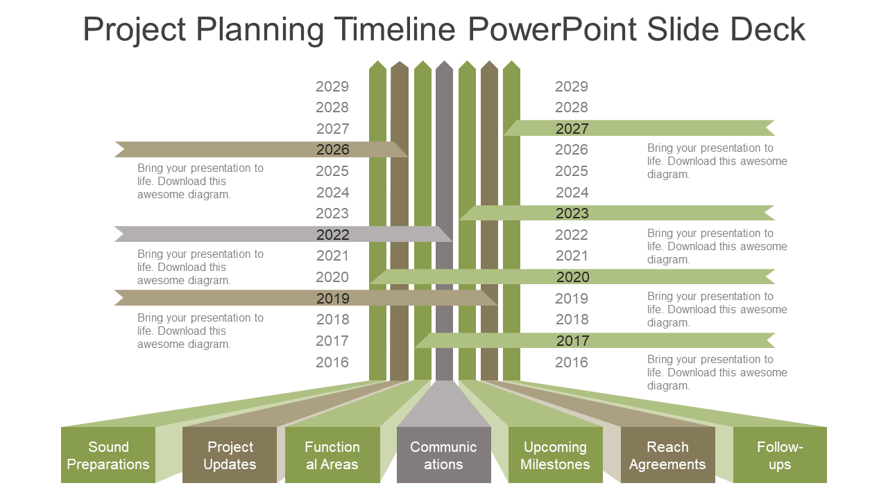 Planning and Timeline Template 5