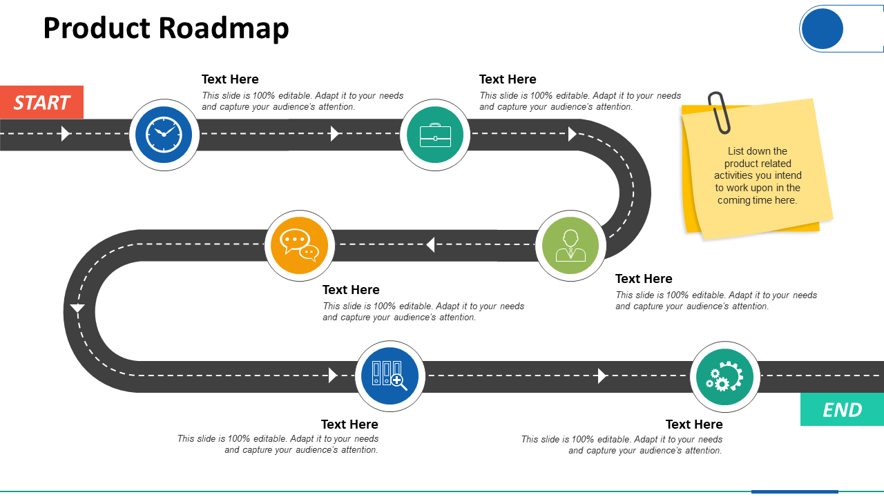 Product Roadmap Process PPT Professional Graphics Download