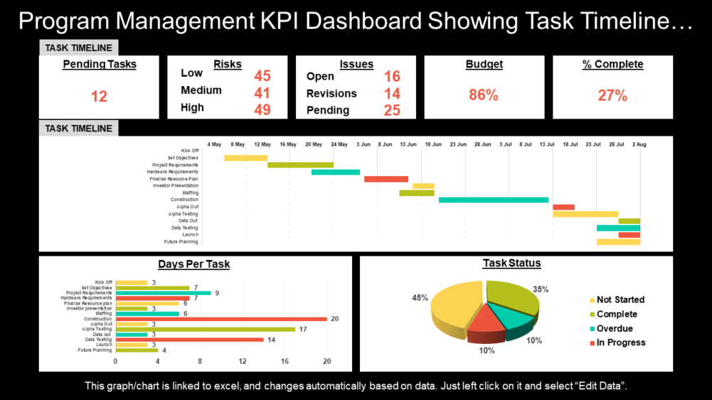 Program Management Kpi Dashboard