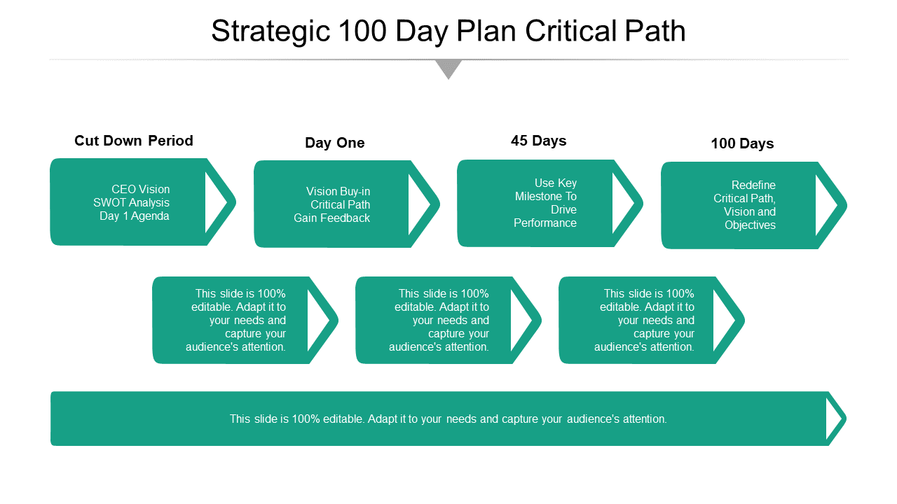 Strategic 100 Day Plan Critical Path