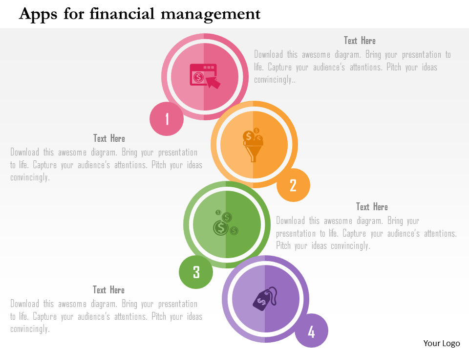 Apps for Financial Management PowerPoint Template