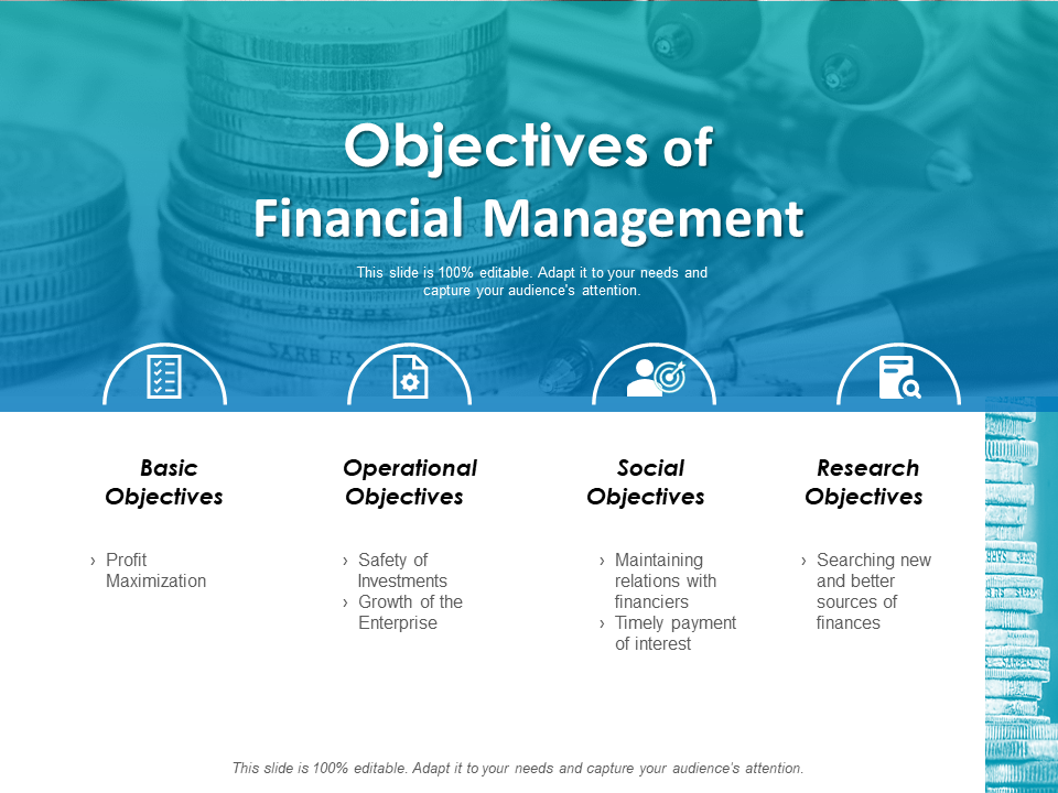 Objectives of Financial Management PowerPoint Template