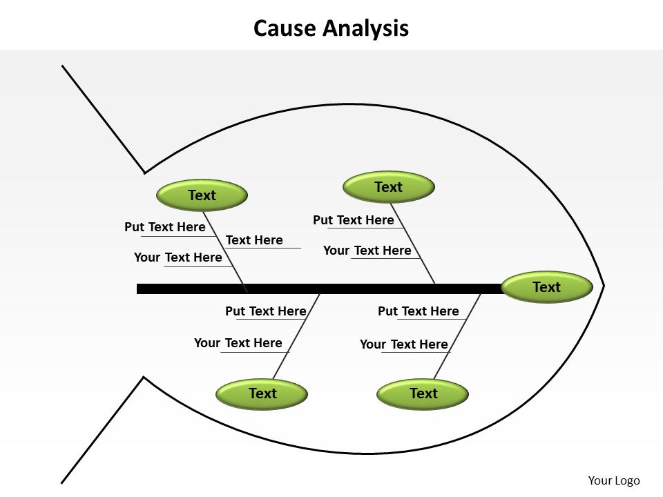 Cause analysis Fishbone simple slides presentation