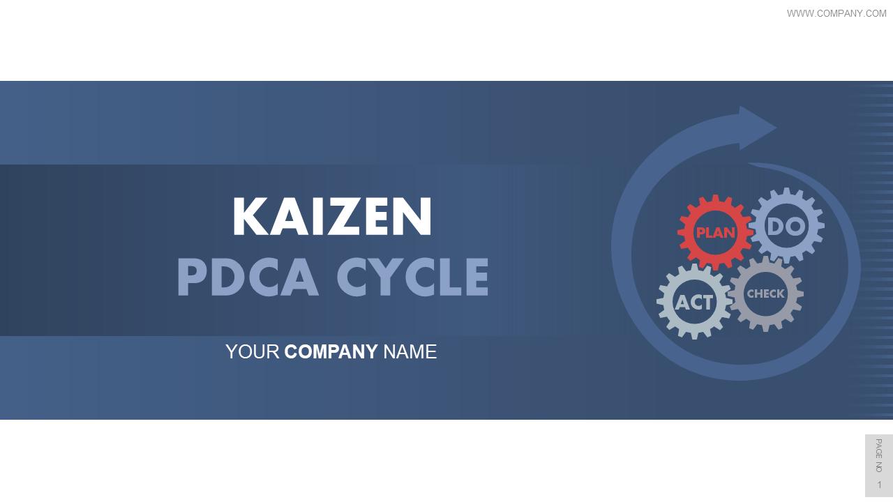 Kaizen PDCA Cycle PowerPoint Presentation Slides
