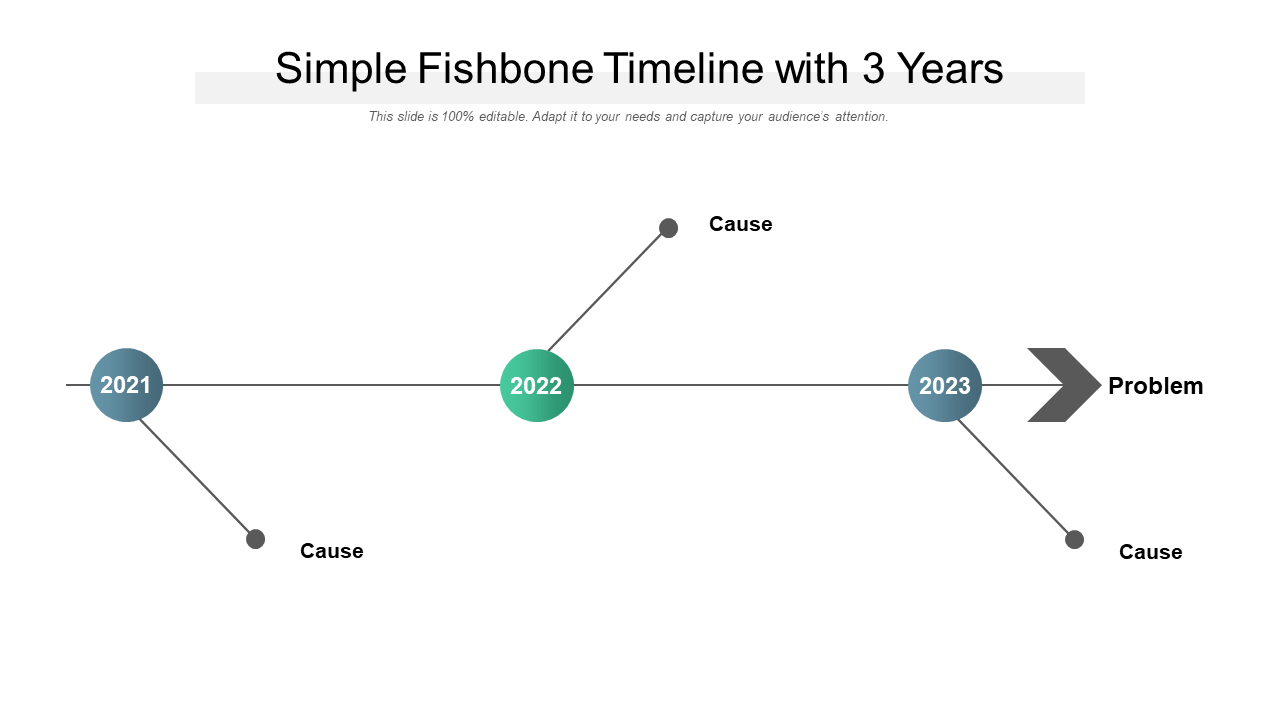 Simple Fishbone Timeline With 3 Years