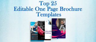Top 25 Editable One Page Brochure Templates for Winning Clients