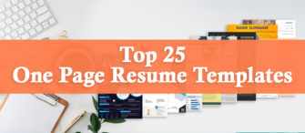 Top 25 One Page Resume Templates To Win Over The Hiring Manager!!