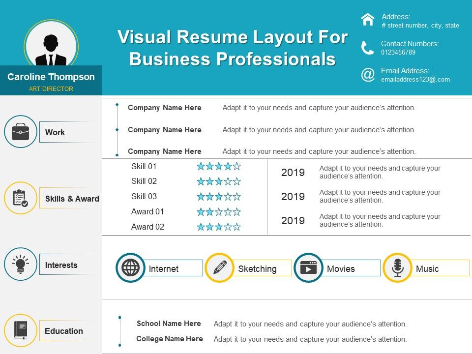 One Page Resume Template 4