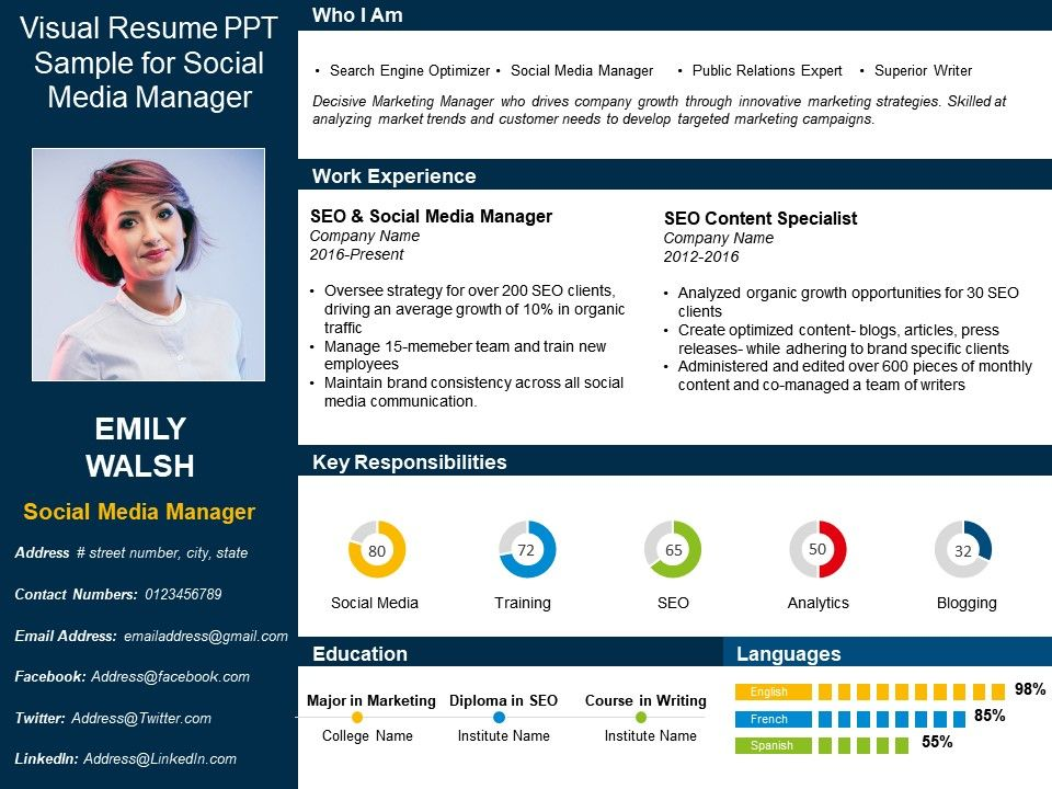 One Page Resume Template 5