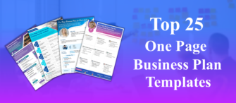 Top 25 One Page Business Plan PPT Templates
