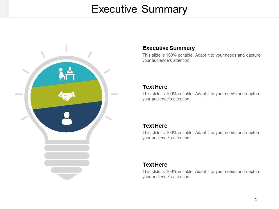 Executive Summary Template 39