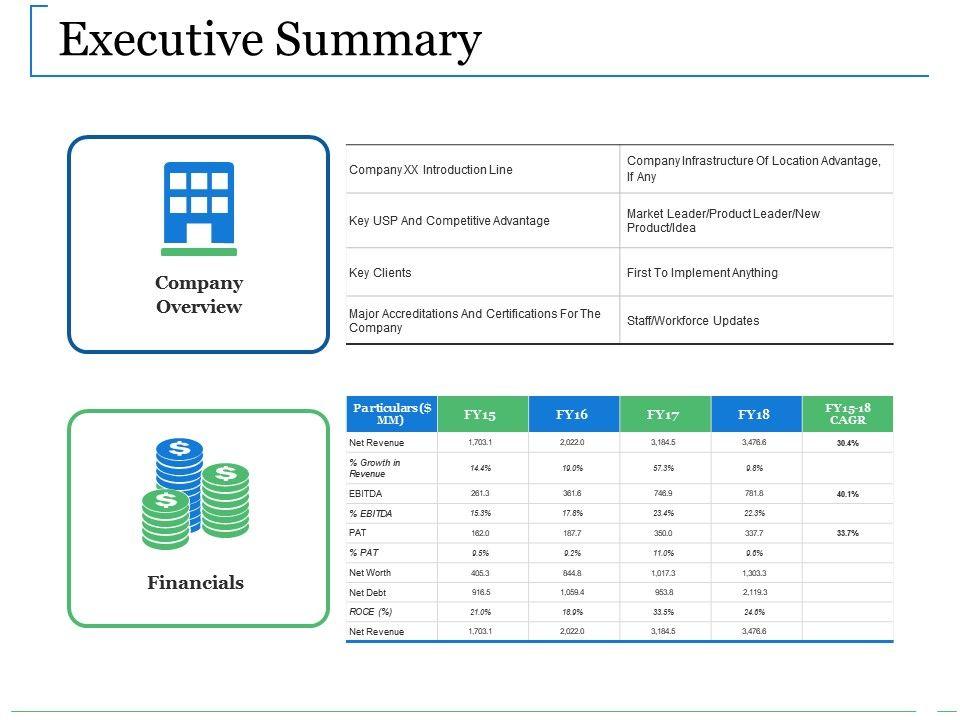 Executive Summary Template 25