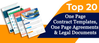 Top 20 One Page Contract Templates, One Page Agreements and Legal Documents