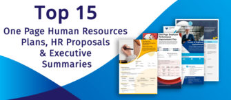 Top 15 One Page Human Resources Plans, HR Proposals, and Executive Summaries for Organisation