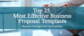 Top 25 Most Effective Business Proposal Templates (includes One Pagers and Full proposals) To Impress Your Clients