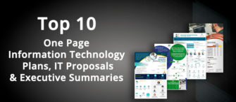 Top 10 One Page Information Technology Plans, IT Proposals and Executive Summaries for Professionals