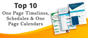 Top 10 One Page Timelines, Schedules and One Page Calendars