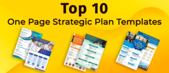 Top 10 One Page Strategic Plan Templates For Business Management