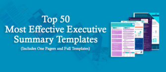 Top 50 Most Effective Executive Summary Templates (includes One pagers and Full Templates) To Impress Your Clients