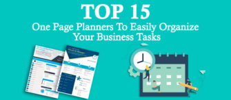 Top 15 One Page Planners To Easily Organize Your Business Tasks!!
