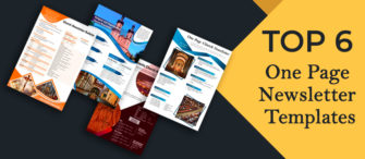 Top 6 One-Page Newsletter Templates To Subscribe To!