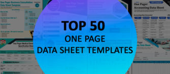 Top 50 One Page Datasheet Templates