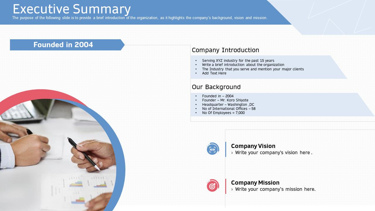 Executive Summary Introduction PPT
