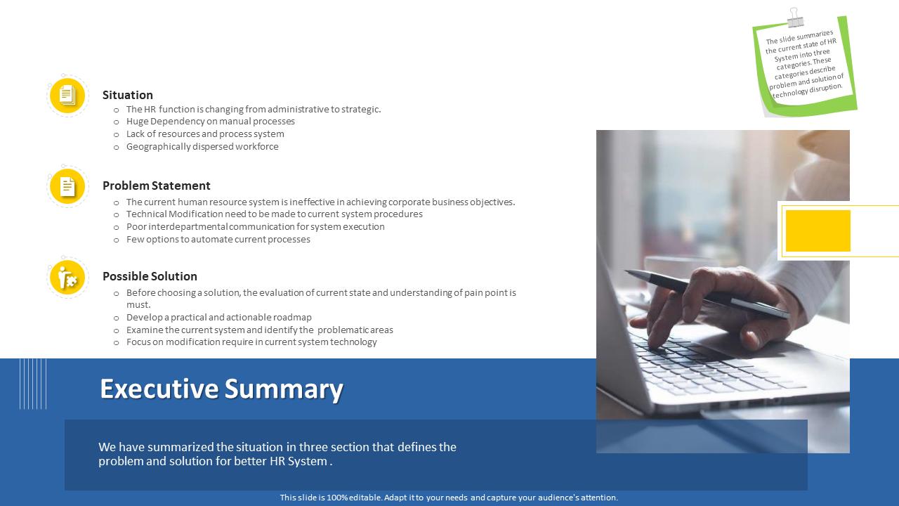 Executive Summary On Modification PPT