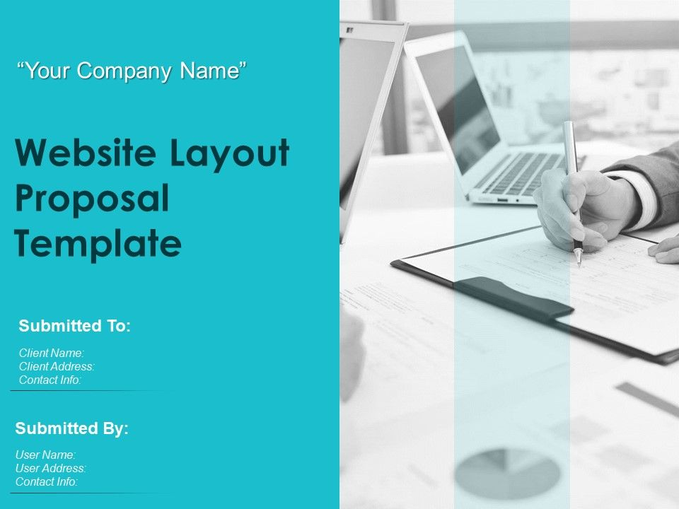 Website Layout Proposal Template