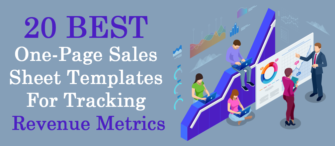 20 Best One-Page Sales Sheet Templates For Tracking Revenue Metrics