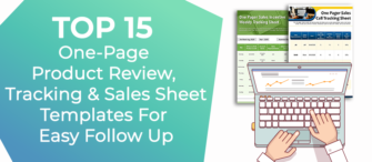 Top 15 One-Page Product Review, Tracking and Sales Sheet Templates For Easy Follow-Up