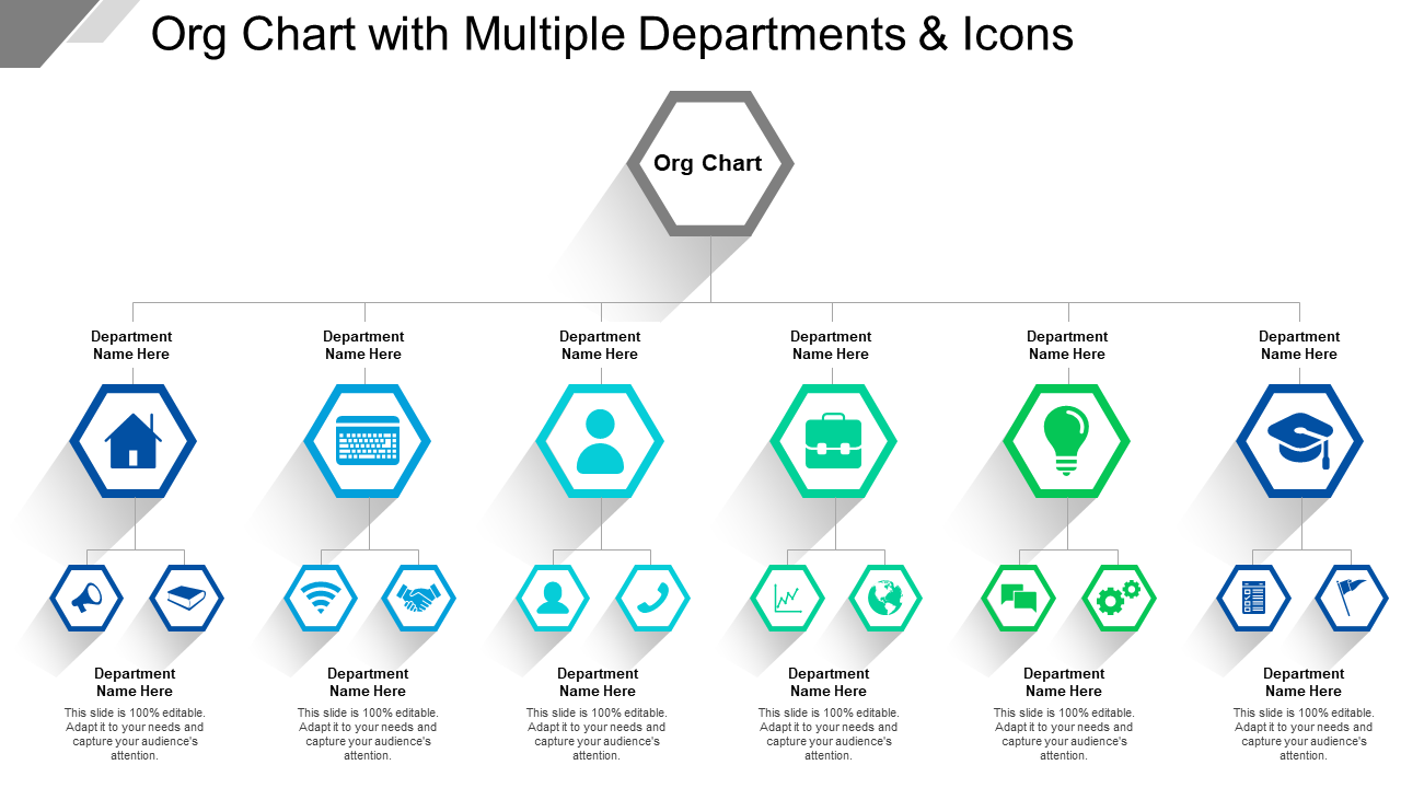 Org Chart With Multiple Departments And Icons